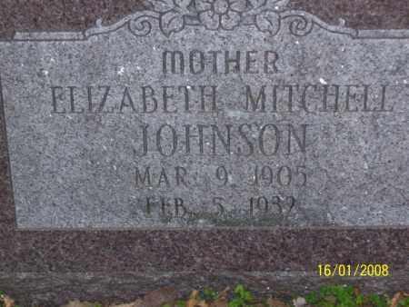 MITCHELL JOHNSON, ELIZABETH - Mississippi County, Arkansas | ELIZABETH MITCHELL JOHNSON - Arkansas Gravestone Photos