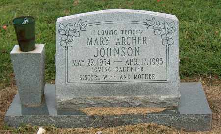 ARCHER JOHNSON, MARY - Mississippi County, Arkansas | MARY ARCHER JOHNSON - Arkansas Gravestone Photos