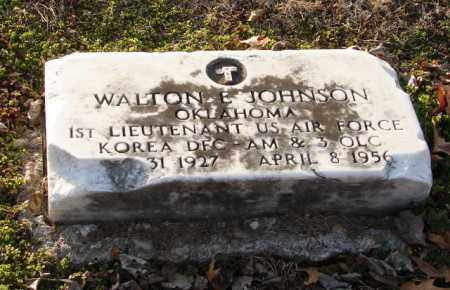 JOHNSON (VETERAN KOR), WALTON E - Mississippi County, Arkansas | WALTON E JOHNSON (VETERAN KOR) - Arkansas Gravestone Photos