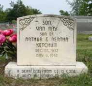 KETCHUM, VAN RAY - Mississippi County, Arkansas | VAN RAY KETCHUM - Arkansas Gravestone Photos