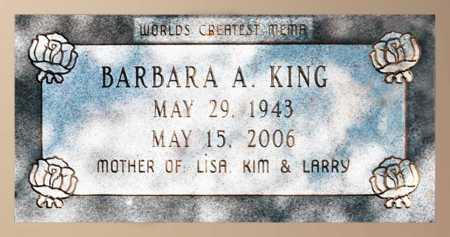 KING, BARBARA A - Mississippi County, Arkansas | BARBARA A KING - Arkansas Gravestone Photos