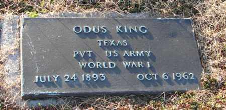KING (VETERAN WWI), ODUS - Mississippi County, Arkansas   ODUS KING (VETERAN WWI) - Arkansas Gravestone Photos