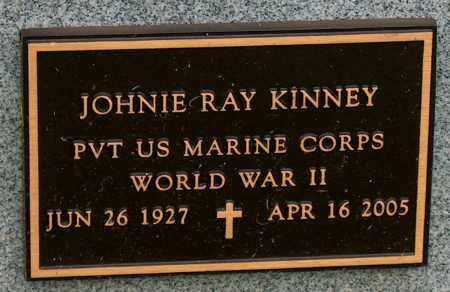 KINNEY (VETERAN WWII), JOHNIE RAY - Mississippi County, Arkansas | JOHNIE RAY KINNEY (VETERAN WWII) - Arkansas Gravestone Photos