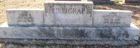 LILLICRAP, MATTIE LOU - Mississippi County, Arkansas | MATTIE LOU LILLICRAP - Arkansas Gravestone Photos