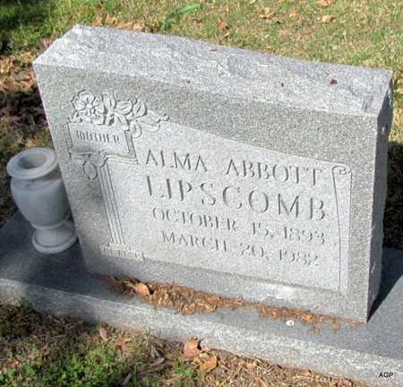 ABBOTT LIPSCOMB, ALMA - Mississippi County, Arkansas | ALMA ABBOTT LIPSCOMB - Arkansas Gravestone Photos
