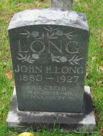 LONG, JOHN H - Mississippi County, Arkansas   JOHN H LONG - Arkansas Gravestone Photos