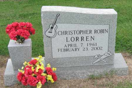 LORREN, CHRISTOPHER ROBIN - Mississippi County, Arkansas | CHRISTOPHER ROBIN LORREN - Arkansas Gravestone Photos