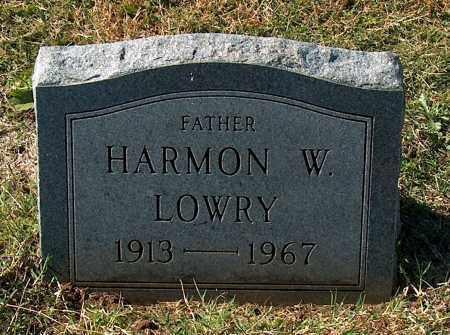 LOWRY, HARMON W - Mississippi County, Arkansas | HARMON W LOWRY - Arkansas Gravestone Photos