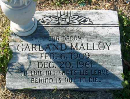 MALLOY, GARLAND - Mississippi County, Arkansas   GARLAND MALLOY - Arkansas Gravestone Photos