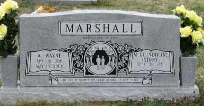 MARSHALL, A. WAYNE - Mississippi County, Arkansas | A. WAYNE MARSHALL - Arkansas Gravestone Photos
