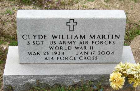 MARTIN  (VETERAN WWII), CLYDE WILLIAM - Mississippi County, Arkansas | CLYDE WILLIAM MARTIN  (VETERAN WWII) - Arkansas Gravestone Photos