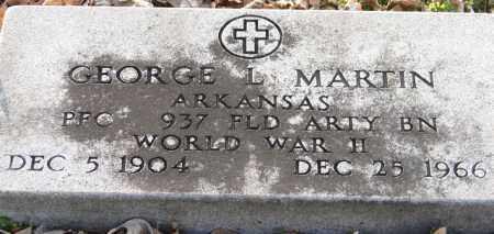 MARTIN (VETERAN WWII), GEORGE L - Mississippi County, Arkansas | GEORGE L MARTIN (VETERAN WWII) - Arkansas Gravestone Photos