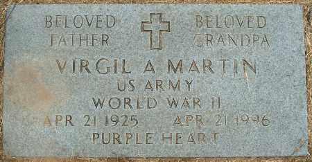 MARTIN (VETERAN WWII), VIRGIL A - Mississippi County, Arkansas | VIRGIL A MARTIN (VETERAN WWII) - Arkansas Gravestone Photos