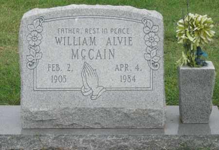 MCCAIN, WILLIAM ALVIE - Mississippi County, Arkansas   WILLIAM ALVIE MCCAIN - Arkansas Gravestone Photos