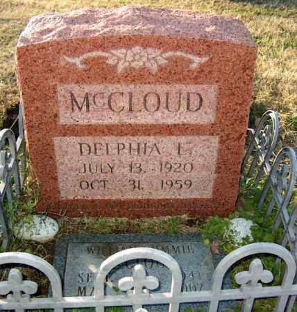 MCCLOUD, DELPHIA L - Mississippi County, Arkansas   DELPHIA L MCCLOUD - Arkansas Gravestone Photos