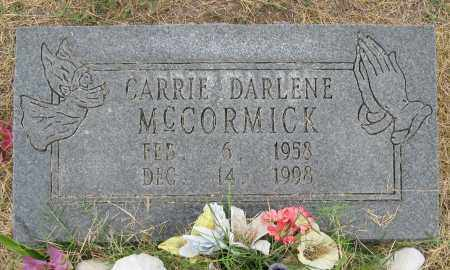 MCCORMICK, CARRIE DARLENE - Mississippi County, Arkansas   CARRIE DARLENE MCCORMICK - Arkansas Gravestone Photos