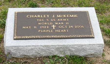 MCKEMIE (VETERAN WWII), CHARLEY J - Mississippi County, Arkansas   CHARLEY J MCKEMIE (VETERAN WWII) - Arkansas Gravestone Photos