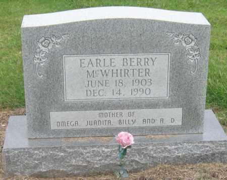 MCWHIRTER, EARLE - Mississippi County, Arkansas | EARLE MCWHIRTER - Arkansas Gravestone Photos