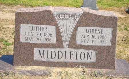 MIDDLETON, LUTHER - Mississippi County, Arkansas | LUTHER MIDDLETON - Arkansas Gravestone Photos
