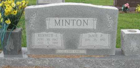 MINTON, KENNETH I - Mississippi County, Arkansas | KENNETH I MINTON - Arkansas Gravestone Photos