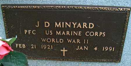 MINYARD (VETERAN WWII), J D - Mississippi County, Arkansas | J D MINYARD (VETERAN WWII) - Arkansas Gravestone Photos