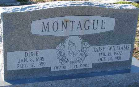 WILLIAMS MONTAGUE, DAISY - Mississippi County, Arkansas | DAISY WILLIAMS MONTAGUE - Arkansas Gravestone Photos