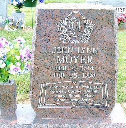 MOYER, JOHN LYNN - Mississippi County, Arkansas | JOHN LYNN MOYER - Arkansas Gravestone Photos