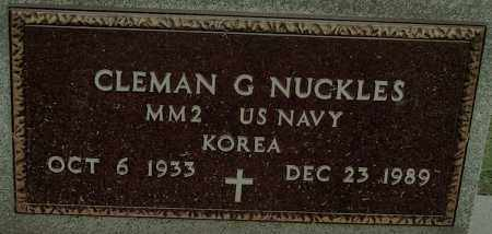 NUCKLES (VETERAN KOR), CLEMAN G - Mississippi County, Arkansas | CLEMAN G NUCKLES (VETERAN KOR) - Arkansas Gravestone Photos