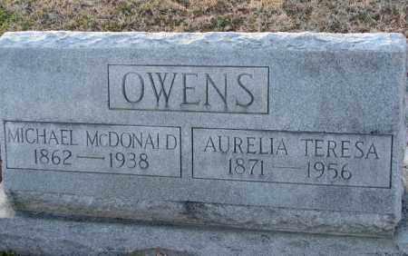 OWENS, AURELIA TERESA - Mississippi County, Arkansas | AURELIA TERESA OWENS - Arkansas Gravestone Photos