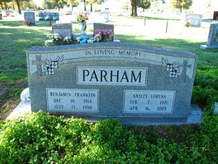 PARHAM, BENJAMIN FRANKLIN - Mississippi County, Arkansas | BENJAMIN FRANKLIN PARHAM - Arkansas Gravestone Photos