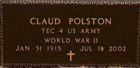 POLSTON (VETERAN WWII), CLAUD - Mississippi County, Arkansas | CLAUD POLSTON (VETERAN WWII) - Arkansas Gravestone Photos