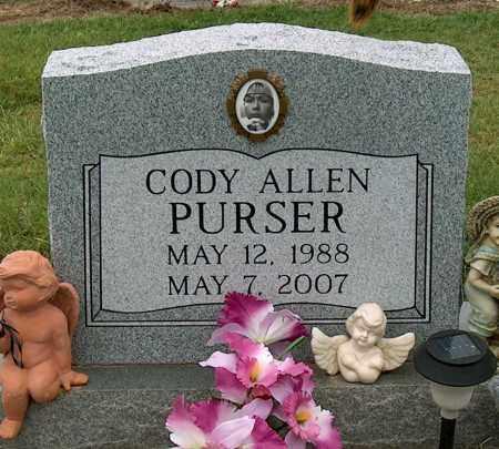 PURSER, CODY ALLEN - Mississippi County, Arkansas | CODY ALLEN PURSER - Arkansas Gravestone Photos