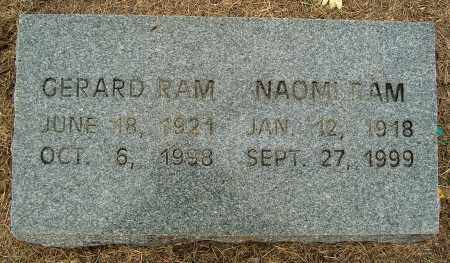 RAM, GERARD - Mississippi County, Arkansas | GERARD RAM - Arkansas Gravestone Photos