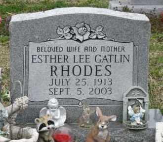 GATLIN RHODES, ESTHER LEE - Mississippi County, Arkansas | ESTHER LEE GATLIN RHODES - Arkansas Gravestone Photos