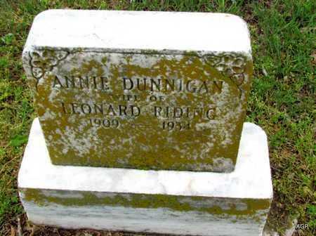 RIDING, ANNIE - Mississippi County, Arkansas | ANNIE RIDING - Arkansas Gravestone Photos