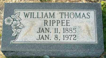 RIPPEE, WILLIAM THOMAS - Mississippi County, Arkansas | WILLIAM THOMAS RIPPEE - Arkansas Gravestone Photos