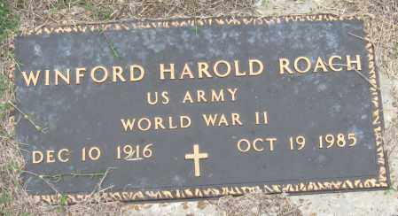 ROACH (VETERAN WWII), WINFORD HAROLD - Mississippi County, Arkansas   WINFORD HAROLD ROACH (VETERAN WWII) - Arkansas Gravestone Photos