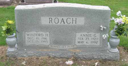 ROACH, ANNIE G - Mississippi County, Arkansas   ANNIE G ROACH - Arkansas Gravestone Photos