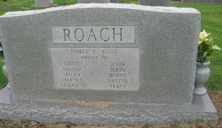 ROACH, ANNIE G (BACK OF STONE) - Mississippi County, Arkansas | ANNIE G (BACK OF STONE) ROACH - Arkansas Gravestone Photos