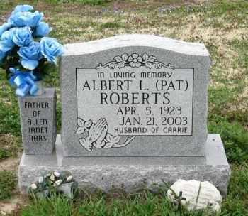 ROBERTS, ALBERT L. (PAT) - Mississippi County, Arkansas | ALBERT L. (PAT) ROBERTS - Arkansas Gravestone Photos