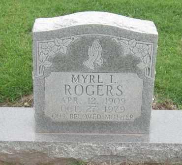 ROGERS, MYRL L - Mississippi County, Arkansas | MYRL L ROGERS - Arkansas Gravestone Photos