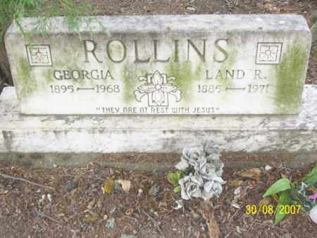 ROLLINS, GEORGIA - Mississippi County, Arkansas | GEORGIA ROLLINS - Arkansas Gravestone Photos