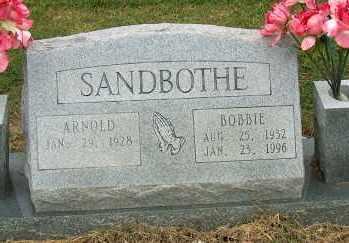 SANDBOTHE, BOBBIE - Mississippi County, Arkansas   BOBBIE SANDBOTHE - Arkansas Gravestone Photos