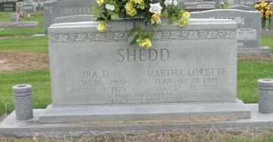 SHEDD, MARTHA LORETTE - Mississippi County, Arkansas   MARTHA LORETTE SHEDD - Arkansas Gravestone Photos