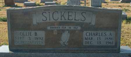 SICKELS, CHARLES A - Mississippi County, Arkansas | CHARLES A SICKELS - Arkansas Gravestone Photos