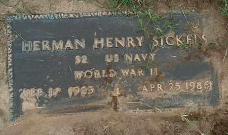 SICKELS (VETERAN WWII), HERMAN HENRY - Mississippi County, Arkansas | HERMAN HENRY SICKELS (VETERAN WWII) - Arkansas Gravestone Photos