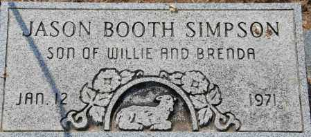 SIMPSON, JASON BOOTH - Mississippi County, Arkansas | JASON BOOTH SIMPSON - Arkansas Gravestone Photos