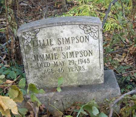 SIMPSON, LILLIE - Mississippi County, Arkansas | LILLIE SIMPSON - Arkansas Gravestone Photos