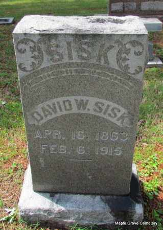 SISK, DAVID W - Mississippi County, Arkansas   DAVID W SISK - Arkansas Gravestone Photos