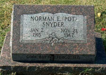 SNYDER, NORMAN E - Mississippi County, Arkansas | NORMAN E SNYDER - Arkansas Gravestone Photos